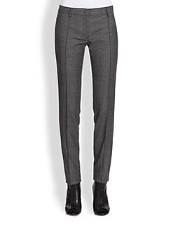 Burberry London - Check Wool Cigarette Pants