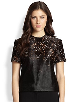Burberry Prorsum - Printed Calf Hair Top