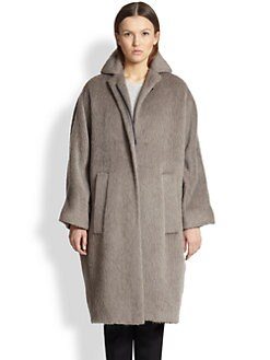 Burberry Prorsum - Slouchy Brushed Wool Coat