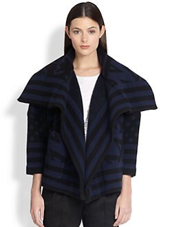 Burberry Prorsum - Geometric Blanket Jacket