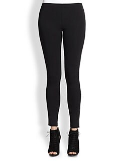 Burberry London - Otterly Leather-Trimmed Leggings