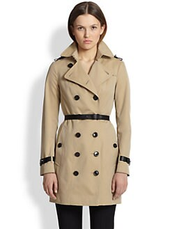 Burberry London - Berryford Leather-Trimmed Trenchcoat