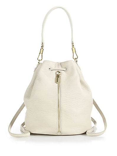 Textured Leather Sling Backpack