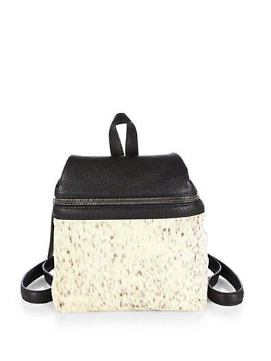 Calf Hair  Leather Small Backpack