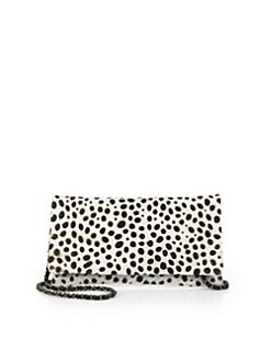 Beirn - Dyed Calf Hair Convertible Wallet Clutch