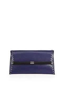Diane von Furstenberg - Leather Mini-Stud Envelope Clutch