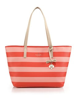 Kate Spade New York - Hawthorne Lane Striped Coated-Canvas Tote