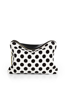 3.1 Phillip Lim - 31 Minute Polka Dot Mixed-Media Cosmetic Case