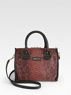 See by Chloe - April Small Python Embossed Leather Satchel