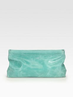 Acne - Olivine Waxed Leather Clutch