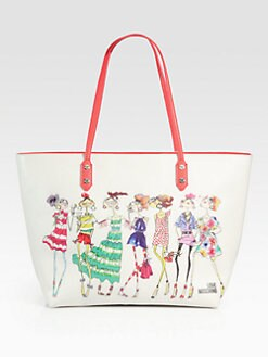 Love Moschino - Girls Large Coated Canvas Tote