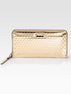 Kate Spade New York - Lacey Metallic Leather Zip-Around Wallet