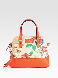 Kate Spade New York - Floral Maise Mixed-Media Satchel
