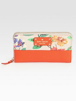 Kate Spade New York - Lacey Floral Mixed-Media Continental Wallet