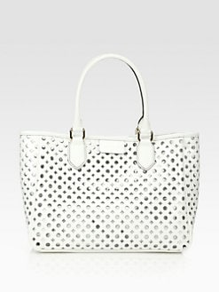 Milly - Addison Lasercut Leather Tote