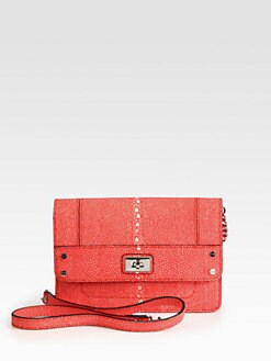 Milly - Madison Stingray Embossed Leather Mini Shoulder Bag