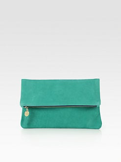 CLARE VIVIER - Fold-Over Nubuck Clutch