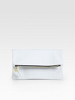 CLARE VIVIER - Fold-Over Weave Clutch
