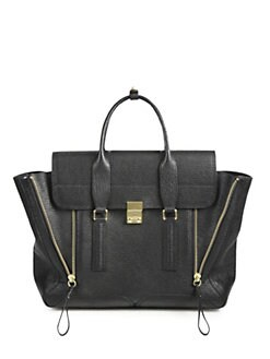 3.1 Phillip Lim - Pashli Shark Embossed Large Satchel