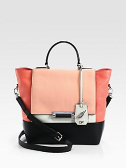 Diane von Furstenberg - 440 Colorblock Leather Small Top Handle Bag