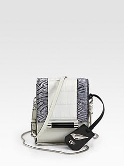 Diane von Furstenberg - Parker Embossed Leather Mini Shoulder Bag