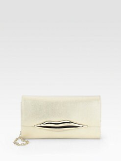 Diane von Furstenberg - Carolina Lips Canvas Clutch
