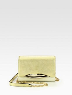 Diane von Furstenberg - Lips Soft Metallic Mini Crossbody Bag