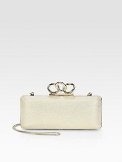 Diane von Furstenberg - Sutra Metallic Canvas Clutch
