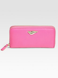 Diane von Furstenberg - Lips Zip-Around Wallet