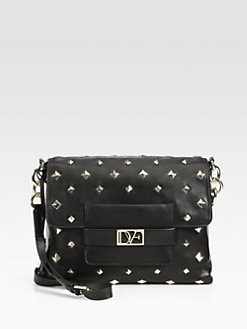 Diane von Furstenberg - Metro Connect Studded Shoulder Bag