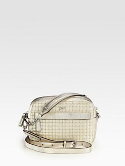 Diane von Furstenberg - Milo Metallic Quilted Mini Crossbody Bag