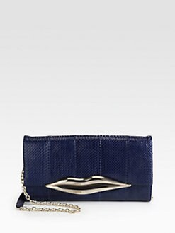 Diane von Furstenberg - Carolina Lips Snakeskin Clutch