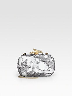 Diane von Furstenberg - Lytton Abstract Printed Sequin Clutch