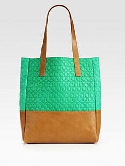 McQ Alexander McQueen - Logo Embossed Colorblock Tote