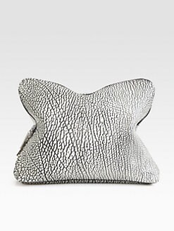 3.1 Phillip Lim - 31 Minute Shark Embossed Leather Clutch