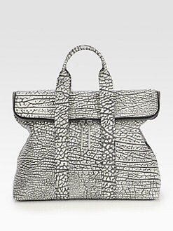 3.1 Phillip Lim - 31 Hour Two-Tone Textured Satchel