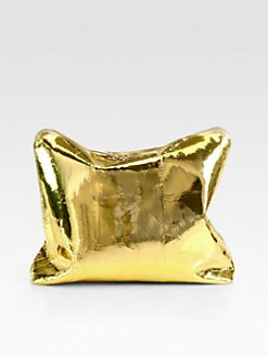 3.1 Phillip Lim - 31 Minute Crinkled Metallic Medium Clutch