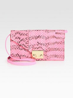 Loeffler Randall - Snakeskin Convertible Continental Wallet