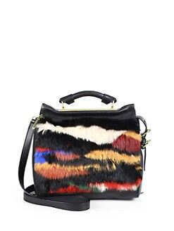 3.1 Phillip Lim - Ryder Rabbit & Leather Small Satchel