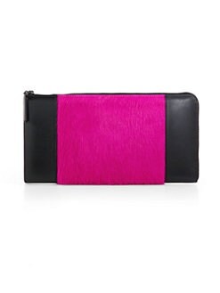 3.1 Phillip Lim - Leather & Calf Hair Travel Wallet
