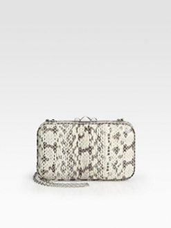 Rebecca Minkoff - Vincent Snakeskin Minaudiere Clutch