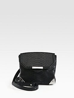 Alexander Wang - Marion Prisma Python Embossed Leather Shoulder Bag