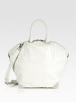 Alexander Wang - Emile Prisma Small Python Embossed Leather Top Handle Bag