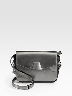 Alexander Wang - Tri-Fold Metallic Leather Shoulder Bag