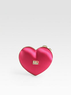 Love Moschino - Satin Heart Clutch