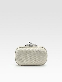 Diane von Furstenberg - Lytton Small Metallic Raffia Clutch