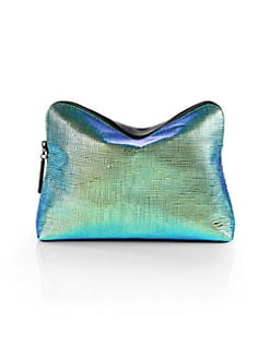 3.1 Phillip Lim - 31 Minute Iridescent Mixed-Media Cosmetics Pouch