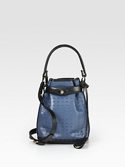 Opening Ceremony - Perforated Two-Tone Shoulder Pouch