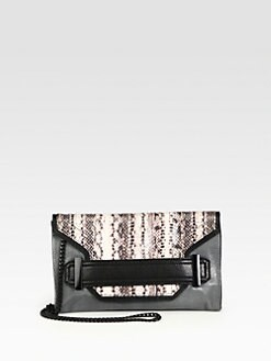 Milly - Lilly Mixed-Media Colorblock Clutch