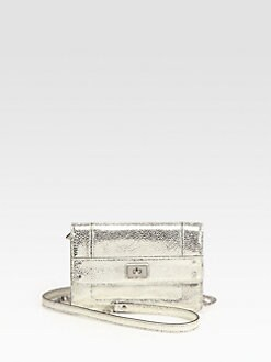 Milly - Iris Metallic Pebbled Leather Mini Crossbody Bag